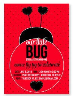 Ladybug Birthday Party PRINTABLE  Invitation from by lovetheday, $15.00