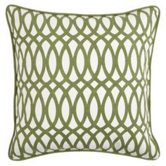"Geo Pillow 22"" - Apple Green from Z Gallerie"