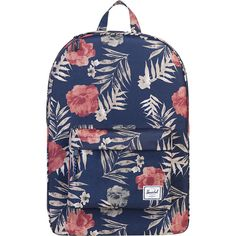 Herschel Classic Backpack- Discontinued Colors - Peacoat Floria -... ($35) ❤ liked on Polyvore featuring bags, backpacks, blue, herschel supply co backpack, day pack backpack, blue backpack, backpack bags and knapsack bag