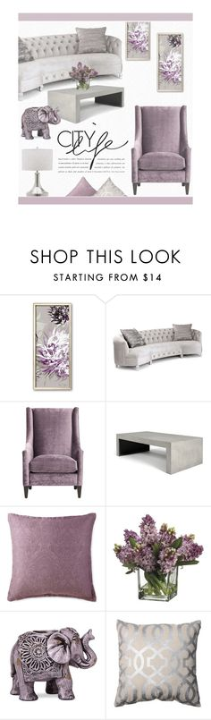 """Lilac and Grey"" by zaycelik ❤ liked on Polyvore featuring interior, interiors, interior design, home, home decor, interior decorating, Haute House, Royal Velvet, Allstate Floral and Boho Boutique"