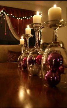 Kerzenständer Weinglas