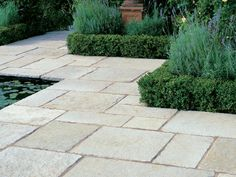 Stonemarket Vintage Stone Limestone is a hard buff grey stone that has been specially processed for a smooth, aged appearance. This limestone Paving offers a cool cool, calm backdrop to your garden design scheme and with a relatively flat surface Garden Paving, Garden Stones, Landscaping Supplies, Backyard Landscaping, Landscaping Ideas, Grey Gardens, Outdoor Gardens, Limestone Pavers, Paving Slabs