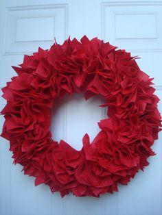 Felt Pomp Wreath Tutorial