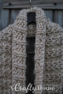 A Crafty House   Knit and Crochet Patterns and Accessories: Easy Knit Infinity Scarf Pattern: Mid-December