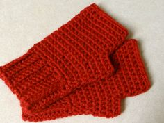 5mm hook Two Little C's: Simple Fingerless Gloves Pattern