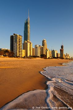 Surfer's Paradise after Sunrise, Gold Coast, Queensland (QLD), Australia