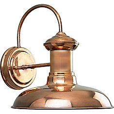 Home Depot $179.00 Brookside Collection Copper 1-light Wall Lantern