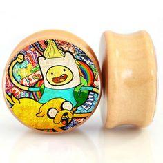 Aliexpress.com : Buy 2pcs/lot Wood Adventure Time Ear Gauge Plugs And Tunnel Ear…