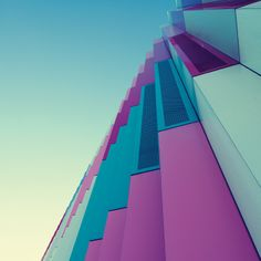 It's no wonder Munich based photographer Nick Frank favors shooting urban architecture. His perspective on the facade of Mira, a local shopping center, has enhanced the colors and geometric structure so… Minimal Photography, Urban Photography, Amazing Photography, Creative Photography, Industrial Photography, Urban Architecture, Amazing Architecture, Architecture Geometric, Minimalist Architecture