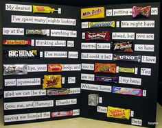 pherases made with candy names | Tippytoe Crafts: YAH: Deployment Homecoming Ideas