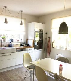 Bright Kitchen Ideas kitchen colour schemes - orange , lime/kiwi cream and wood | home