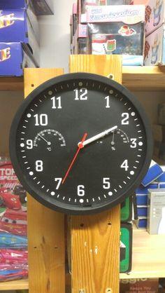 Ρολόι τοίχου με ένδειξη θερμοκρασίας κ υγρασίας από το http://www.g-store.gr