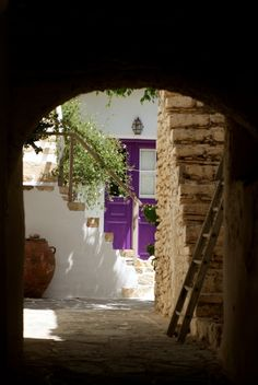 Courtyard in Folegandros, Greece