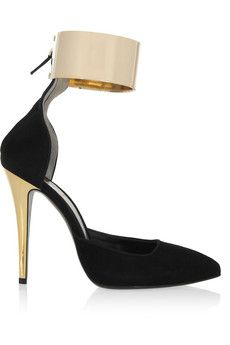 Fendi Cuffed suede pumps | NET-A-PORTER