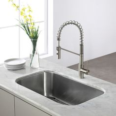 KRAUS 31 Inch Undermount Single Bowl 16 Gauge Stainless Steel Kitchen Sink with NoiseDefend Soundproofing