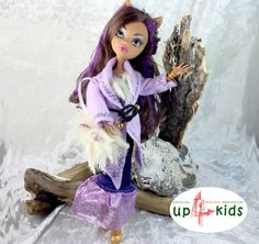 OOAK - handgefertigte Unikate von up4kids  Monster Fashion Set WinterFlieder  passend für Ankleidepuppen wie Monster High, Ever After High, Once upon a zombie und Bratz sowie andere...