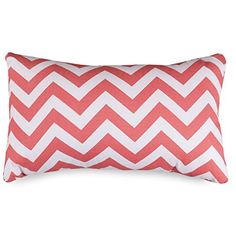 Majestic Home Goods Pillow 12Inch Coral Chevron >>> Read more reviews of the product by visiting the link on the image.-It is an affiliate link to Amazon. #DecorativePillowsInsertsCovers