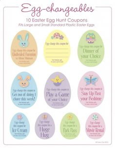Easter Egg Fillers (Free Printables) - Cute As You Please