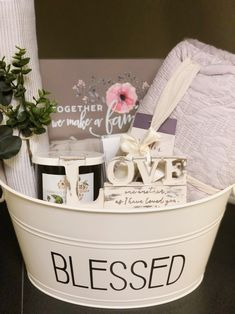 Welcome Home gift. Violet theme ho… Welcome Home gift. Violet theme home basket. Bridal Gift Baskets, Bridal Shower Baskets, Teen Gift Baskets, Theme Baskets, Housewarming Gift Baskets, Raffle Baskets, Bridal Shower Gifts For Bride, Bridal Gifts, Wedding Gifts