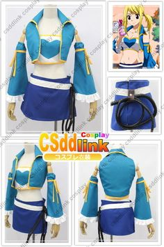Fairy Tail Lucy Heartfilia Cosplay Costume with by CSddlinkcosplay, $69.00