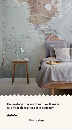 Quality Classic World Map Mural, custom made to suit your wall size, and fully customisable. A classic wallpaper style that will be timeless in your space. World Map Mural, World Map Wallpaper, Wall Wallpaper, Classic Wallpaper, Classic Interior, Home Living Room, Wall Design, Wall Murals, Interior Design