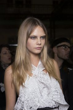 Cara Delevingne bleached eyebrows givenchy spring 2015