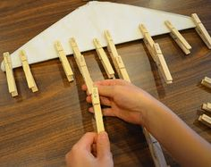 Write fractions on clothespins. Students can place in order on a dry cleaning hanger, as well as clip equivalent fractions together. Fun independent practice!