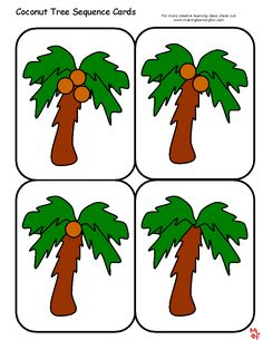 templates-Coconut Tree Sequence Cards