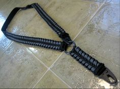 Convertible Single/Dual Point Rifle Sling In Black/Gunmetal 550 Paracord. Adjustable Heavy Duty Nylon Webbing, All Steel Hardware, HK Hook Attachments. $45.50 Shipped.