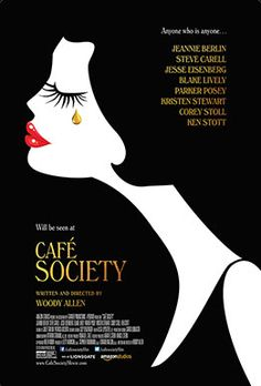 Set in the 1930s, Woody Allen's bittersweet romance CAFÉ SOCIETY follows Bronx-born Bobby Dorfman (Jesse Eisenberg) to Hollywood, where he falls in love, and back to New York, where he is swept up in the vibrant world of high society nightclub life. With CAFÉ SOCIETY, Woody Allen conjures up a 1930s world that has passed to tell a deeply romantic tale of dreams that never die.