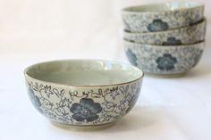 Japanese style endulge ceramic tableware rice bowl noodle bowl porridges flower pattern 5.5 bowl