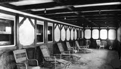 <2> Two only known genuine views of one of the two Titanic's Parlor Suite Promenades