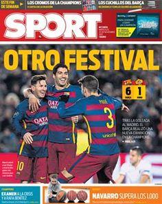 Portadas de los periódicos deportivos de España y Europa hoy Miércoles, 25 de noviembre de 2015 - MARCA.com