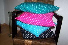 Kissenhülle Kissenbezug Kissen Bezug mini pink oder schwarz Sterne Stars