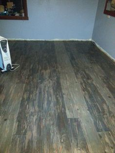 My Finished Kitchen Floors Pine Boards Stained The Vinegar Amp Steel Wool Way With