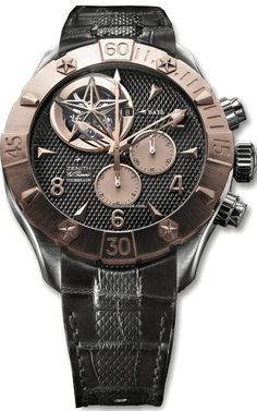 Zenith Defy Classic Tourbillon Mens Watch 86.0526.4035/21.C648 $70,000 chronograph Brushed Solid 18K Rose Gold with Steel Case. Black rubber strap. Black dial.