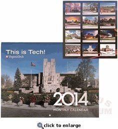 Virginia Tech 2014 Photo Calendar: Black Friday Sale!