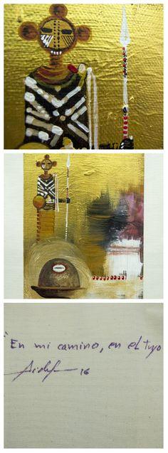 """US $140   Obra: """"En mi camino, en el tuyo"""" Artista: Fidel Yordán  Técnica: Acrílico sobre lienzo   #art #cuba #arket #Colombia #nuevosartistas #goodprices #fidelyordan #acrílico #acrylic #artforall #buyarte #newartist #canvas #bucaramanga #santander #fivesecondsofanger #anger #technique"""