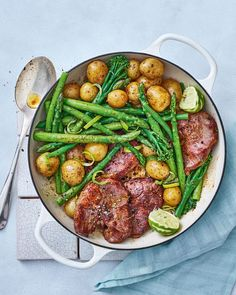 Zesty lime and anchovy lamb steaks Lamb dishes Steaks, Lamb Steak Recipes, Delicious Magazine Recipes, Great Recipes, Dinner Recipes, Yummy Recipes, Cooking Recipes, Healthy Recipes, Healthy Lunches