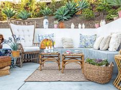With the right accessories, you can transport yourself to your favorite travel destinations just by stepping outside. See how we transformed one patio into three international-inspired getaways.