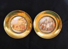 Pair of Vintage Brass Pictures by MemeresAttic on Etsy
