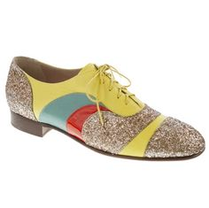 J. Crew x Creatures of the Wind make glitter brogues. Holy cow.  $295