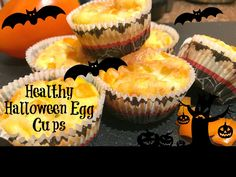 Delicious and nutritious, dairy and gluten free breakfast egg cups. Halloween Breakfast, Healthy Halloween Treats, Gluten Free Breakfasts, Egg Cups, Breakfast Muffins, Brunch, Eggs, Desserts, Food