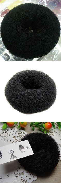 Best Sale Fashion trend Donut balls head bun hair ring ,hairdressing tools hair ring Medium