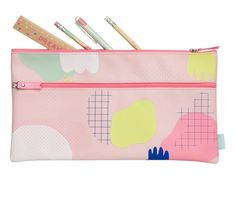 Get organised for school or work with this pink Cute Pencil Case