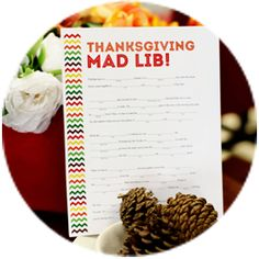 This Thanksgiving, keep guests entertained with this fun Thanksgiving Mad Lib.