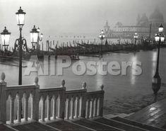 Venice (Grand Canal, B&W) Art Poster Print Landscapes Art Print - 36 x 28 cm