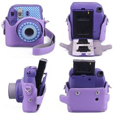 Amazon.com : CAIUL 9 in 1 Fujifilm Instax Mini 8 Accessories Bundle(Purple 2nd Generation Mini 8 Case/Mini Album/selfie Lens/4 colors Close-Up Lens/3 inch Frame/Wall Hang Frame/Film & Camera Sticker/Film Pouch) : Camera & Photo