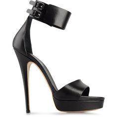 CASADEI Platform sandals ($298) ❤ liked on Polyvore featuring shoes, sandals, heels, high heel platform sandals, famous footwear, platform shoes, platform sandals and leather heel sandals