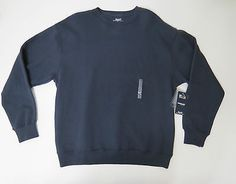 Fleece Sweater Sz XL Roundtree & Yorke Sport Mens Navy Blue Crew Neck ProLuxe
